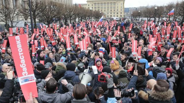 Властите задържаха Алексей Навални