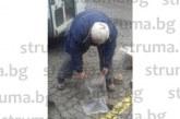 Пропаднаха паветата на възлова улица в Гоце Делчев