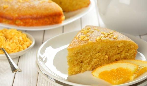 Кекс с портокалови корички