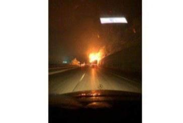 """Тир се запали на магистрала """"Хемус"""""""