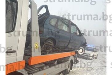 Кола изхвърча от пътя и се преобърна край Банско