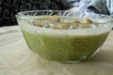 Спаначена крем-супа със сметана и крутони