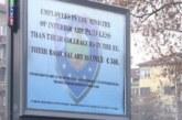Свалиха протестния билборд на полицаите