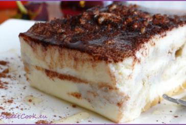 Млечна бишкотена торта