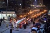 Внушително факелно шествие в Петрич в памет на Васил Левски