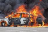 ОГНЕН АД! Кола изгоря като факла