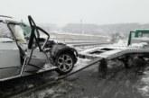 Катастрофа на Е-79 край Шарков чифлик,  джип смазан до неузнаваемост