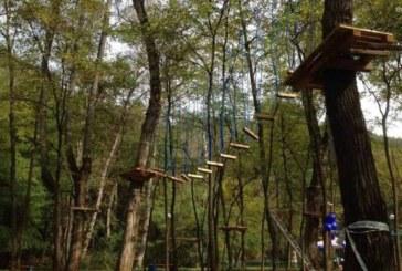 Отварят въжения парк край Благоевград