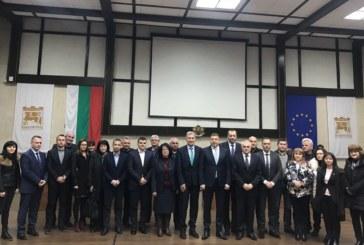 Кметът на Банско на среща с вътрешния министър Радев