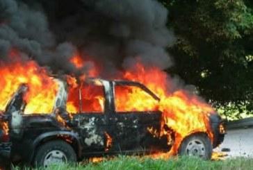 ОГНЕН УЖАС! Автомобил се подпали в Петричко