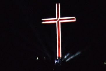 33-м. кръст над Благоевград озарен от многоцветни светлини за най-светлия празник Възкресение Христово