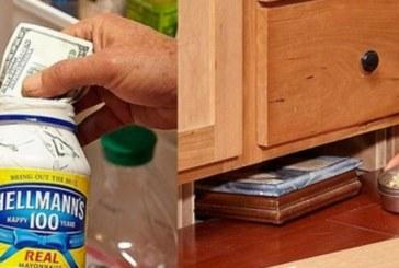 14-те най-добри места за криене на пари вкъщи