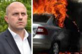 Колата на бивш депутат изгоря като факла