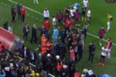 Кръв оплиска футболен стадион, разбиха главата на треньор