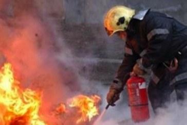 Мерцедес пламна в движение в Петрич