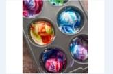 Страхотна идея за боядисване на яйца с крем за бръснене