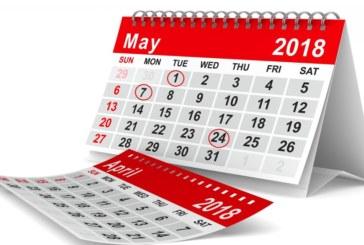 Кои дни ще почиваме през май