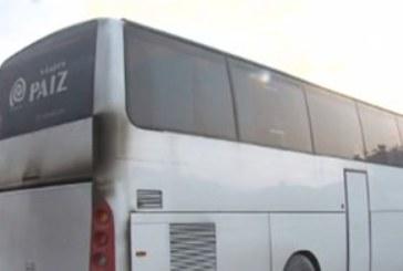 Само едната врата на подпалилия се автобус край град Ветрен работела