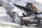 БМВ на благоевградски бизнесмен горя на метри от пожарната