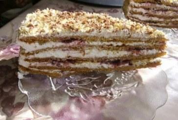 Френска селска торта със сладко от боровинки