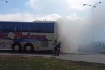 """МВР с информация за пламналия автобус на АМ """"Хемус"""""""