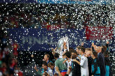 """""""Реал"""" празнува! Футболисти и треньорски щаб ликуват след победата над """"Ливърпул"""" в Киев"""