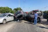 Страшно меле във Варна! 4-ма ранени в шесторна катастрофа, колите размазани в сблъсъка