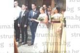 """Синът на старшата сестра в МБАЛ – Благоевград Т. Панева – М. Властанов, каза заветното """"да"""" на любимата си на стилна сватба в Сандански"""
