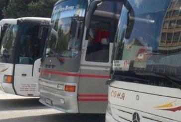 Всички автобуси спират в четвъртък от 14 до 15,30 часа