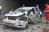 """СТРАШНА КАСКАДА! Кола се преобърна на """"Тракия"""", четири жени са ранени"""