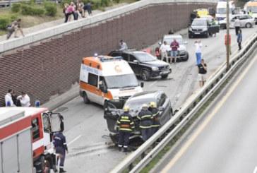 Зверска верижна катастрофа в София