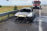 """Ето какво остана от колата, която пламна като факла на АМ """"Тракия"""""""
