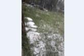 Мощна градушка удари Кюстендил, земята побеля за минути