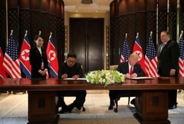 Доналд Тръмп и Ким Чен-Ун подписаха общ документ