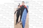 """Симитлийският футболист на шотландския """"Единбърг Сити"""" Здравко Карадачки се качи за първи път на сърф"""