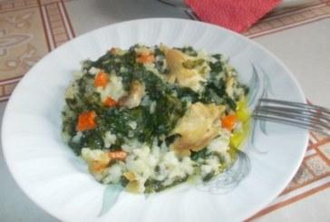 Пиле със спанак и ориз