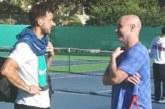 Гришо тренира с Агаси