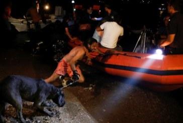 Българи в плен на огнената стихия в Атина се спасяват с лодки в морето
