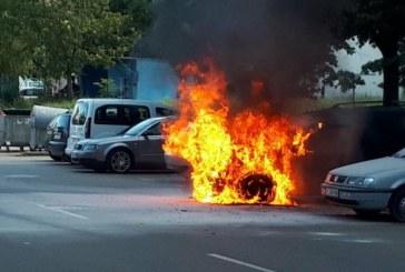 ИНЦИДЕНТ В СТРУМСКО! Шофьор завъртя ключа за запалването и джипът пламна