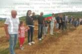 Благоевградчани скандират край разкопките при Покровник: Не даваме Скаптопара /СНИМКИ/
