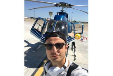 Бербатов на почивка с хеликоптер