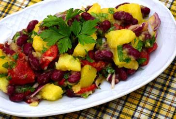Картофена салата с чушки и боб