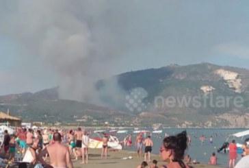 Снимки от поредения огнен ад в Гърция