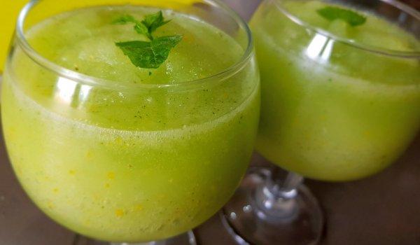 Лимоново сорбе с мента и лимончело