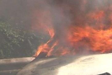 Огнен ужас в Разлог! Автомобил лумна в пламъци