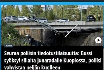 Автобус падна от мост