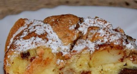 Десерт с бисквити и ябълки