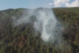 Пожарът над Карлово отново се разгоря