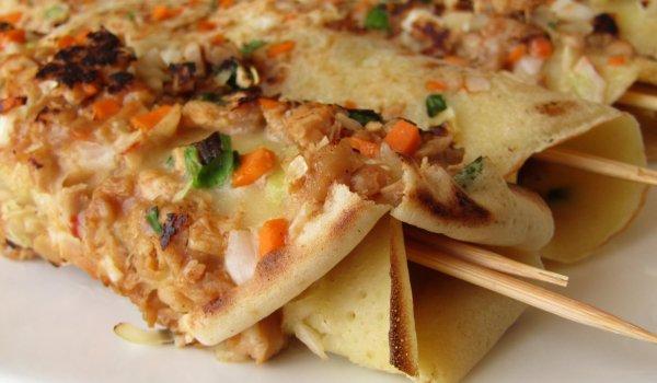 Хашимаки от палачинки с пиле