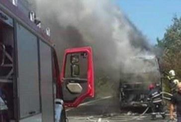 "Нов инцидент! Автобус пламна на АМ""Тракия"""